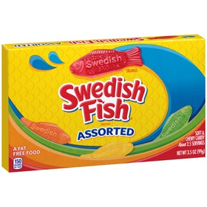 Swedish Fish ASSORTED Theatre Size 3.5oz