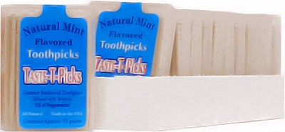 Taste-T-Picks Natural Mint Toothpicks 12ct - 900 picks!