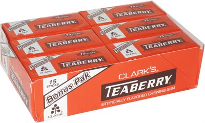 Teaberry Gum 15 stick 12ct