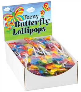 Teeny Butterfly Rainbow Pops 96ct.
