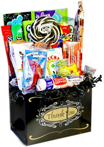Thank You Retro Candy Gift Basket