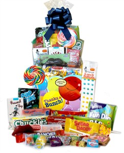 Thanks A Bunch Balloons Retro Candy Gift Basket (DISCONTINUED)