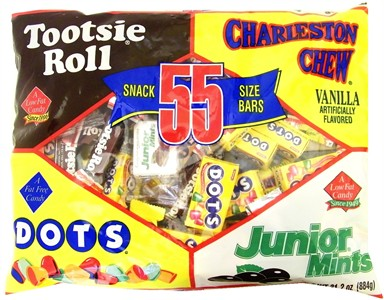 Tootsie Roll Snack Size Bars 55ct. (sold out)