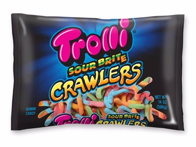 Trolli Sour Brite Crawlers Gummi Candy 14oz.