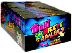 Trolli Brite Crawlers Sour Gummy Worms Theater Size Boxes 12ct.