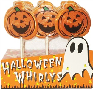 Halloween Pumpkin Whirly Pops 24ct. (Sold Out)