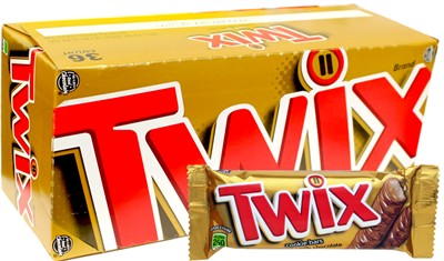 Twix Chocolate Caramel Cookie Bars 36ct.