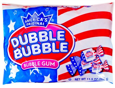 Dubble Bubble USA Bubble Gum 11.5oz. Bag (sold out)