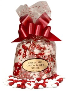 Loving Hearts Cherry Candy Filled Bag