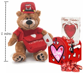 Love Letters Plush Teddy Bear & Mailbox Valentine Gift