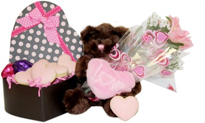 Valentine Heart Polka-Dot Box with Plush Teddy Bear (DISCONTINUED)