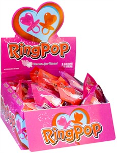 Valentine Heart Shaped Ring Pops 36ct.