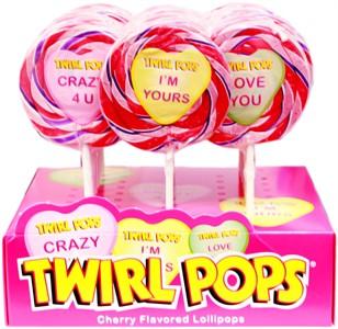 Valentine Twirl Pops 24ct.