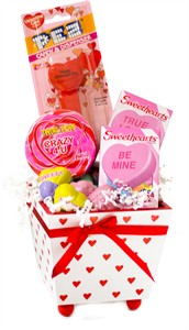Wooden Valentine Planter Candy Assortment