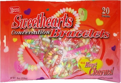 Necco Sweethears Conversation Bracelets 8oz. (Sold Out)
