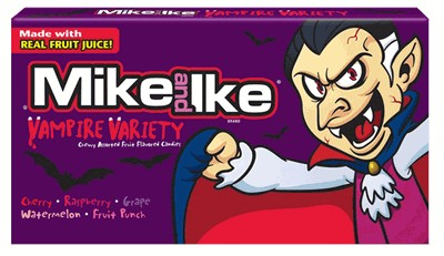 Mike and Ike Vampire Variety Halloween Theater Boxes 12ct