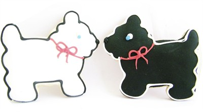 Vanilla Scottie Dog Sugar Cookies 2ct. (Sold Out)
