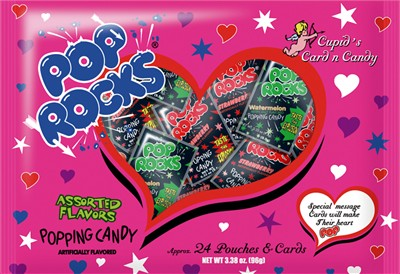 Cupid's Card and Candy Valentine's Day Pop Rocks 20ct. (Sold Out)