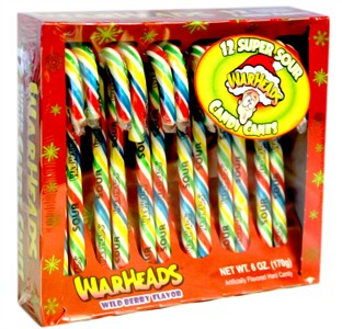 Warhead Super Sour Candy Canes 12ct.