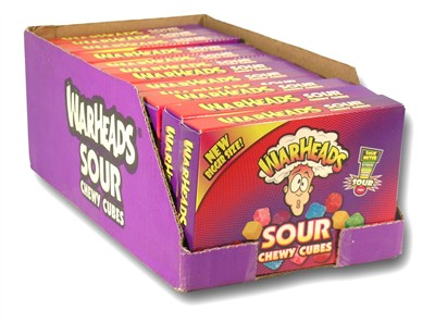 Warheads Chewy Cubes Theater Size Boxes 12ct.