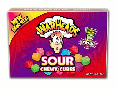 Warheads Chewy Cubes Theater Size 4oz.