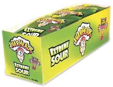 Warheads Extreme Sour Candy 12 - 1 oz. Bags