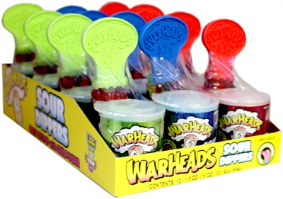 Warheads Sour Dippers Lollipop Candy 12ct.