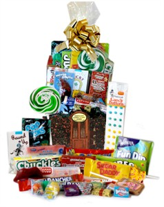 Welcome Home Nostalgic Candy Gift Basket