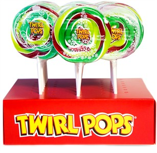 Happy Holidays Candy Cane Flavored Twirl Pops 24ct