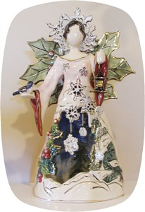 Winter Angel Tealight Holder (sold out)