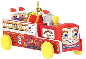 Winkly Blinky Fire Truck Christmas Tree Ornament (sold out)