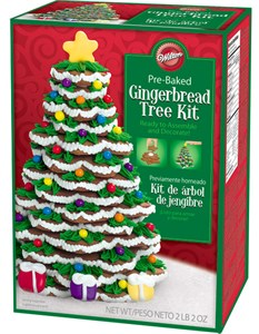 Pre-Baked Gingerbread Christmas Cookie Tree Kit