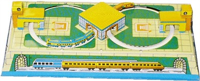 Wind Up Tin Train Station (DISCONTINUED)