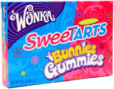 Sweetart Bunnies Gummies Theater Size Box 3.5oz.