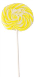 Yellow & White Whirly Pop 1.5 oz. - 3 inch