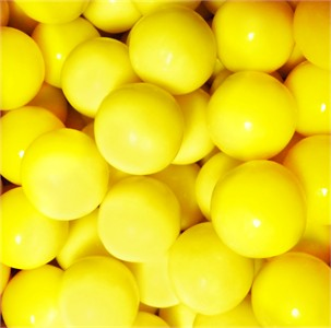 Yellow Gumballs 1-Inch Large 5LB
