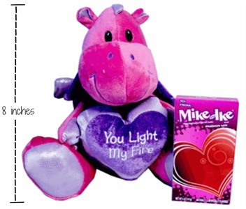 You Light My Fire Mike & Ike Passion Mix Valentine Plush Dragon