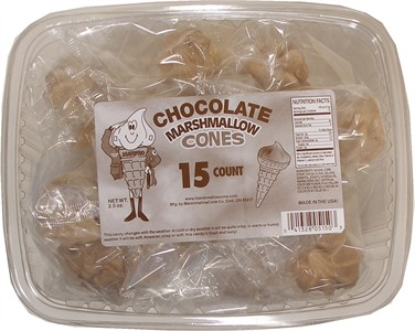 Yum Yum Chocolate Marshmallow Cones 15ct (discontinued)