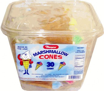 Yum Yum Marshmallow Cones 30ct Tub