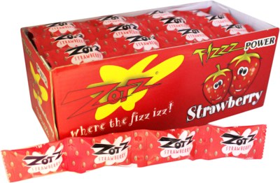 Zotz Fizz Power Candy - Strawberry 24ct.