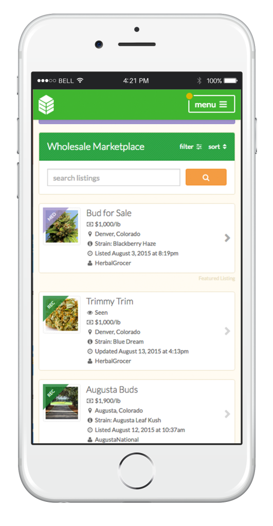 listings mobile cannabase