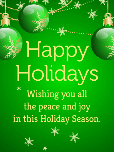 Happy Holidays Green Website