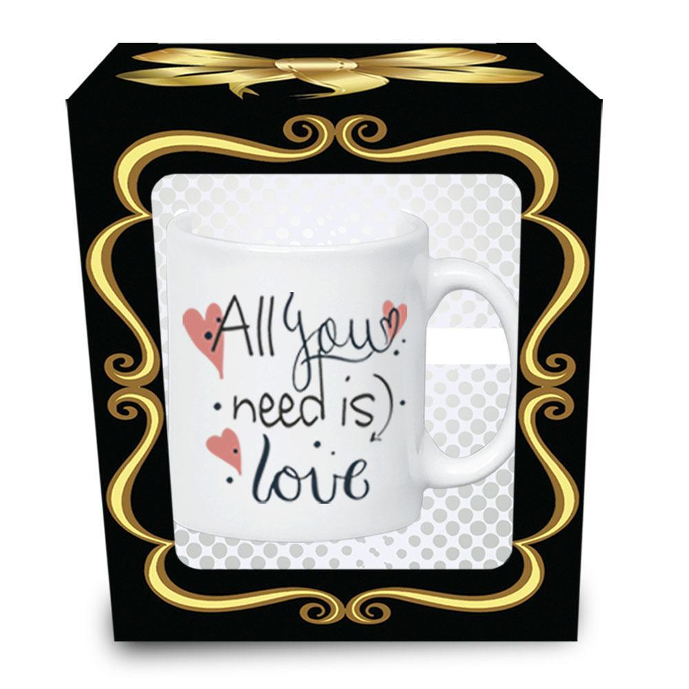 Caneca Frases All You Need Is Love