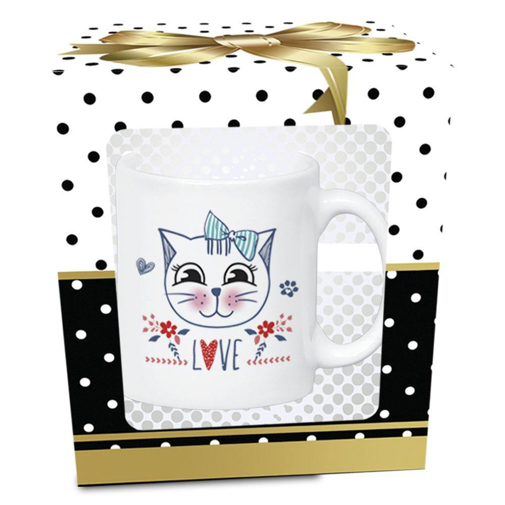 Caneca Pet Love Gato