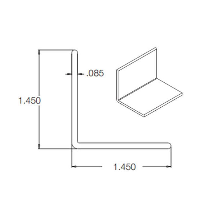 10 Ft Crane Composites Kemlite FRP Outside Angle   White