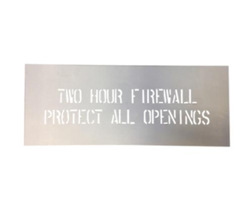 2 Hour Firewall Stencil
