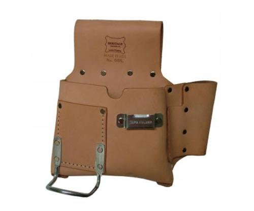 Heritage Leather 6 Pocket Drywall Hanger's Tool Pouch - Left Handed