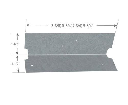 1 1/2 in x 1 1/2 in x 7 3/4 in x 16 Gauge ClarkDietrich EasyClip U-Series Clip Angles