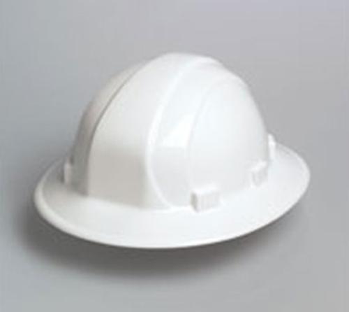 ERB Omega II Full Brim Hard Hat - White