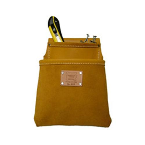 Heritage Leather 2 Pocket Professional Moccasin Drywall Pouch